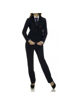 Black suite and pant receptionist uniform